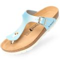 BOnova German BiO Innovation Zehentrenner Sandale Ibiza Light Blue