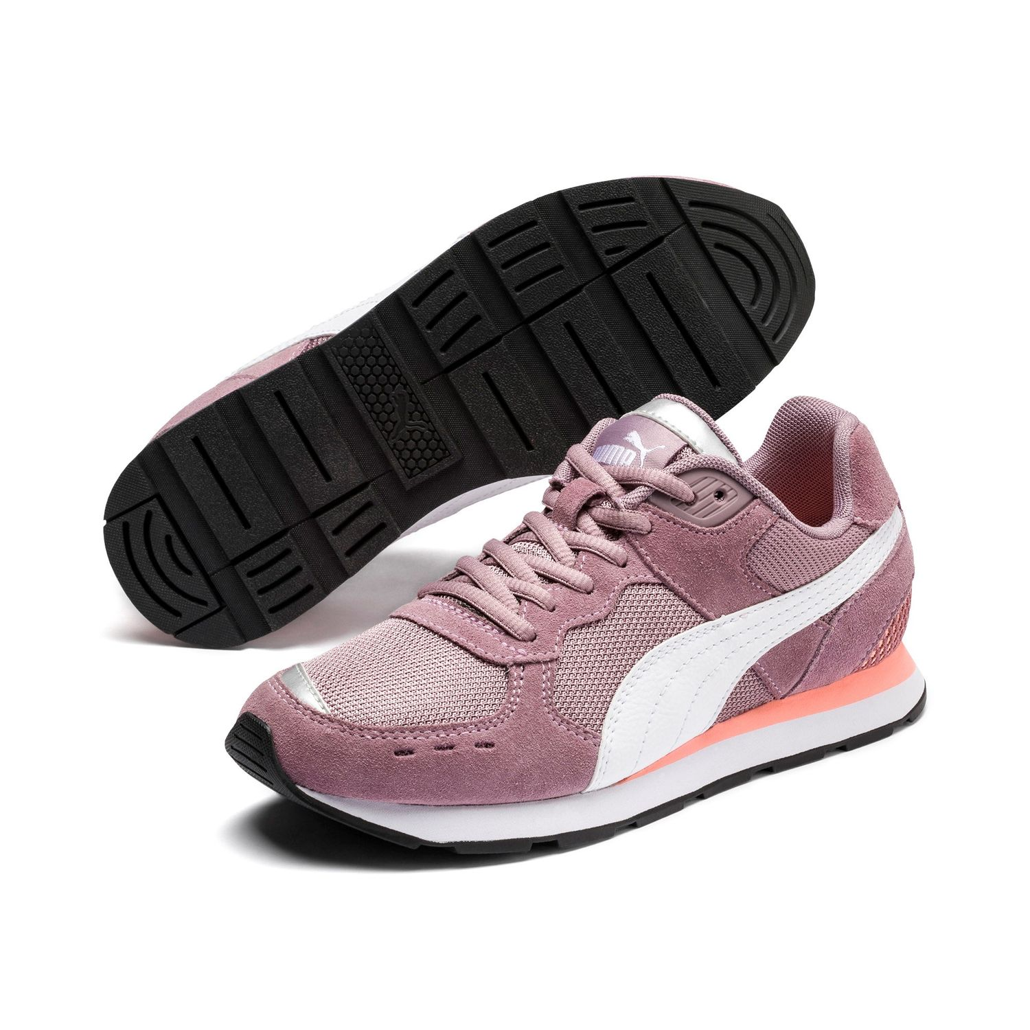 Details about Puma Vista Jr Women Children Unisex Trainers Shoes Retro  369539 Elderberry