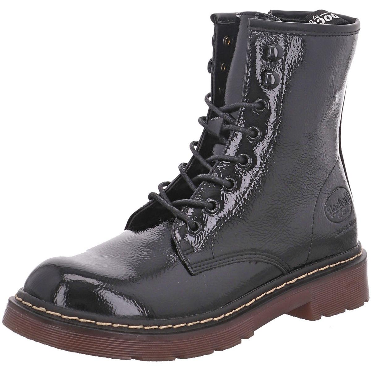 Stiefel 45ts201 Dockers Zu By Combat Dessert Boots Damen Details Schwarz Gerli Lack Ok8n0NwPX