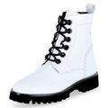 SIOUX Damen Stiefelette Chukka Boots DOLORETA-704 Lack Weiß