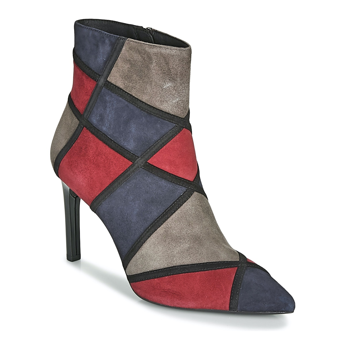 Pesimista Dar una vuelta No complicado  Geox Faviola B Ladies Ankle Boots D948UB Dark Navy Burgundy Multicoloured |  eBay
