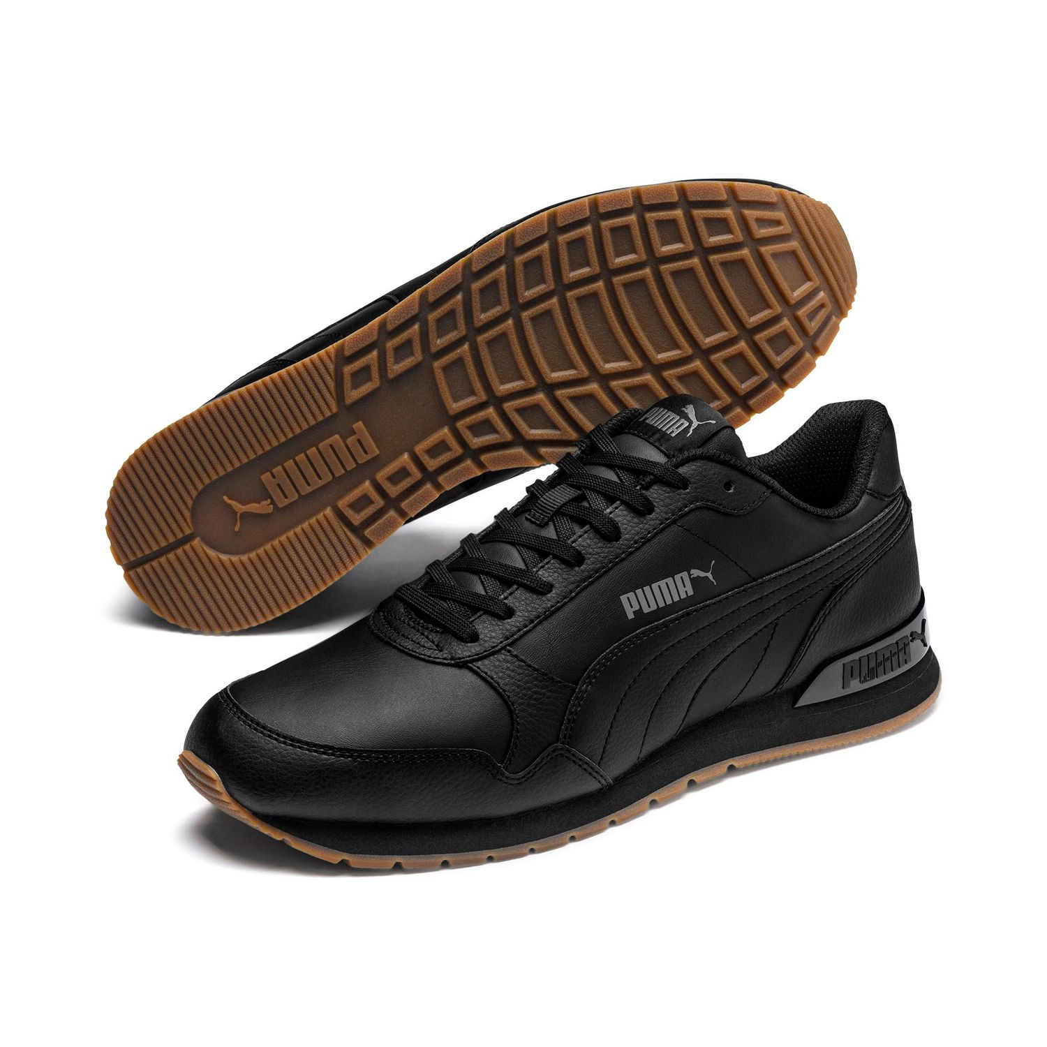 Details about Puma st Runner v2 Full L Unisex Trainers Shoes Leather 365277  Black Castlerock