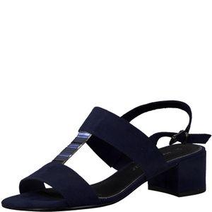 Marco Tozzi Damen 2-28202-24 Sandaletten Sandalen Navy Comb Blau