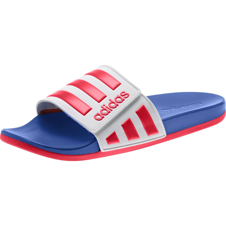 Herren Adidas Sandalen | Adidas Adilette Badeschuhe blau weiß