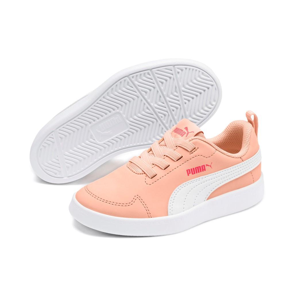 peach puma trainers
