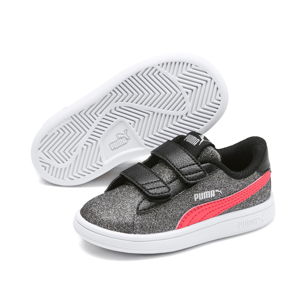 Puma Smash v2 Glitz Glam V Inf Low Top Kinder Schuhe Sneaker