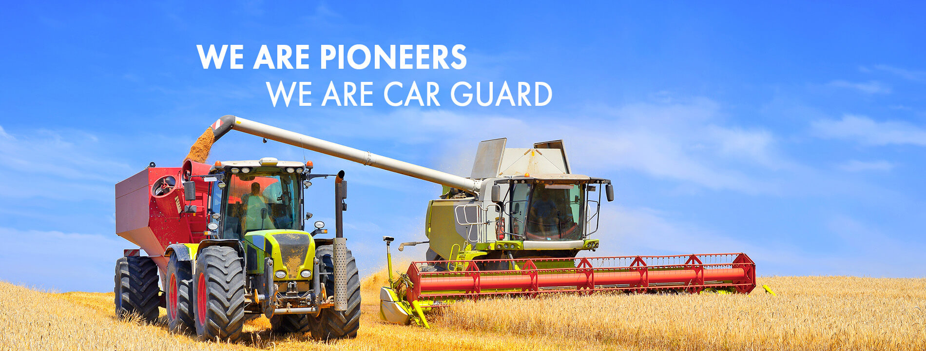 We are pioneers - We are Car Guard