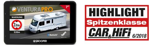 >Wohnmobilnavigation Snooper Ventura Pro S6900 - Camping-Kenner