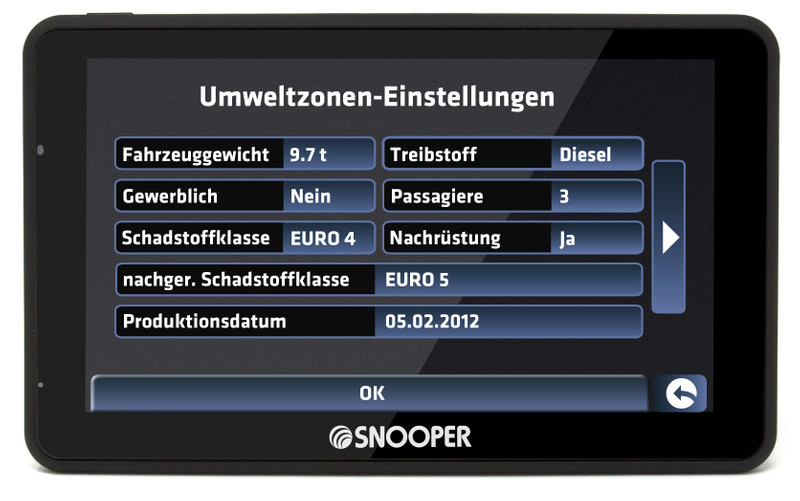 SNOOPER Bus&Coach PRO S6900 Bus- Navigationssystem – Bild 14