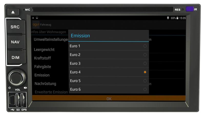 CARGUARD IntelliRoute CA9100 DAB Reisemobil- Navigationssystem – Bild 19