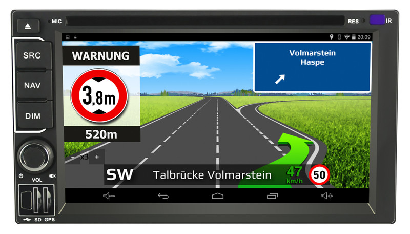 CARGUARD IntelliRoute TR9100 DAB LKW- Navigationssystem