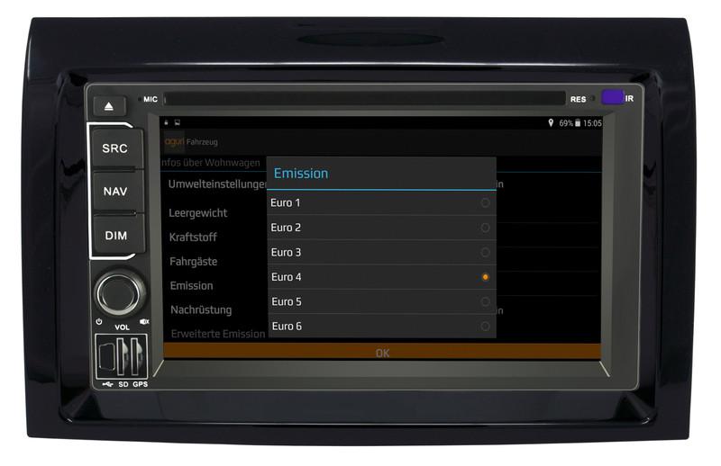 CARGUARD IntelliRoute TR9100 DABXF LKW- Navigationssystem für DAF XF – Bild 8