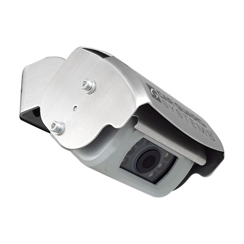 CARGUARD SNOOPER REAR ANGEL VIEW ™ RAV-M Mini-Shutter-Rückfahrkamera, 700TVL, 118°, silber, 9-32V, PAL – Bild 2
