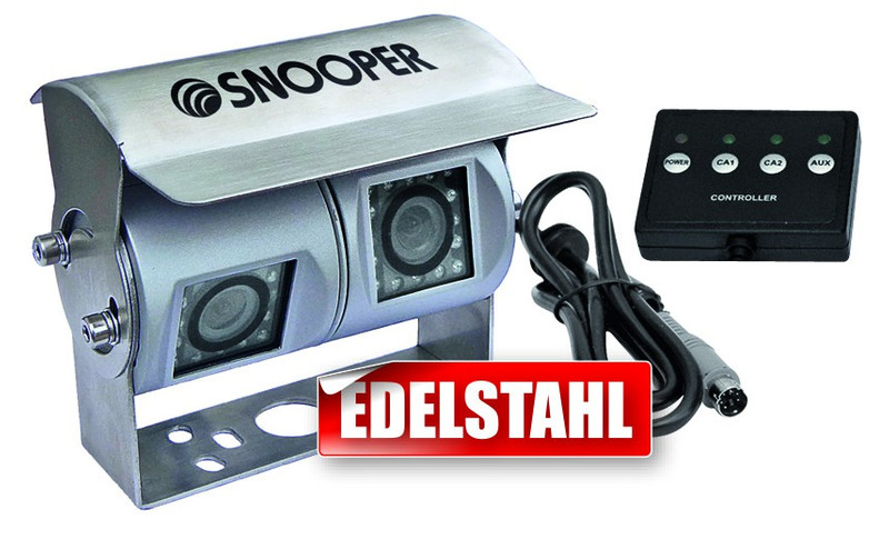 CARGUARD Rückfahrkamera mit zwei getrennten Kameramodulen für mobile Navigationssysteme mit Umschaltbox für 12V-24V – Bild 1