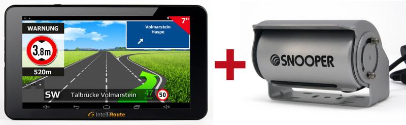 IntelliRoute CA8020DVR Navi + Shutter-Doppel-Kamera 12V/24V für mobile Navigationssysteme mit Umschaltbox – Bild 2