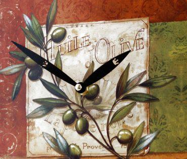 Wanduhr Motiv Olive mediterran günstig Uhr Küchenuhr Küche Esszimmer Wohnzimmer – Bild 3