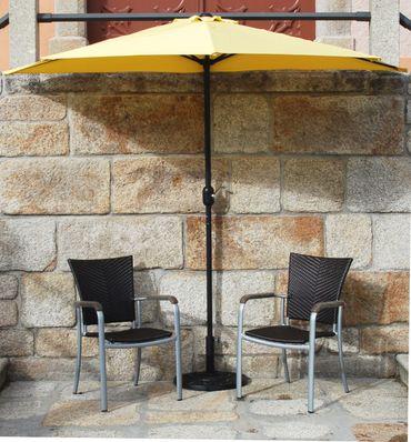 IMC Sonnenschirm gelb halbrund Kurbel Sonnenschutz Garten Balkon Terrasse OVP – Bild 4