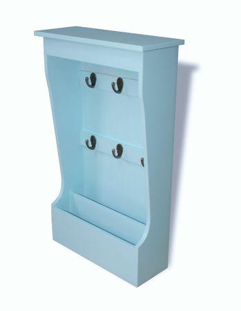 Schlüsselkasten hell-blau Brett Regal Schlüsselablage Holz Landhausstil maritim – Bild 2