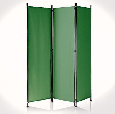 IMC Paravent 3-teilig grün Trennwand Raumteiler Sichtschutz Terrasse Balkon OVP