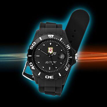 JG 71 Uhr Silco - Sonderedition - Armbanduhr günstig mit Motiv Geschenk neu – Bild 1