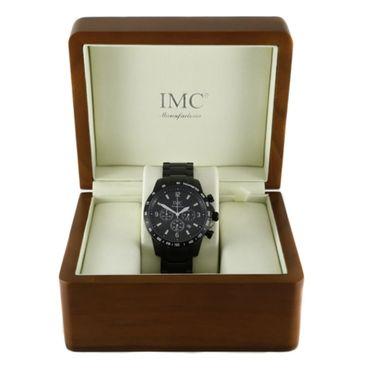 IMC Herren-Armband-Uhr Chronograph Edelstahl schwarz Datumanzeige Stoppfunktion – Bild 4