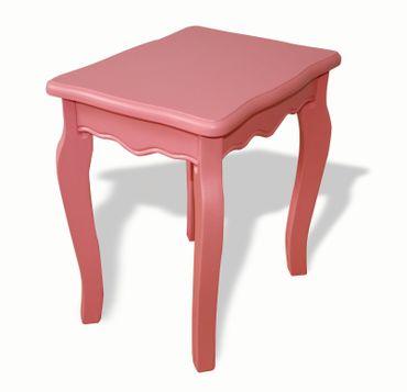 Holzhocker Hocker alt-rosa Stuhl Sitz günstig Holz mediterran Bank Kinder Frau – Bild 1