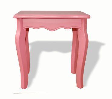Holzhocker Hocker alt-rosa Stuhl Sitz günstig Holz mediterran Bank Kinder Frau – Bild 2