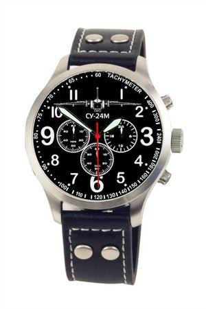 Fliegeruhr SU-24M Suchoi Chronograph Armbanduhr Flugzeug Bomber günstig Uhr – Bild 1