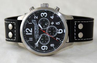 IMC® Fliegeruhr Starfighter Chronograph Armbanduhr Flugzeug Herren Männer Uhr – Bild 2