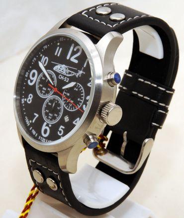 Fliegeruhr Sikorsky Chronograph Armbanduhr Hubschrauber günstig Herren Uhr OVP – Bild 2