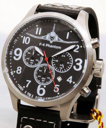 IMC Fliegeruhr Phantom Chronograph Armbanduhr Kampfflugzeug Herren Männer Uhr