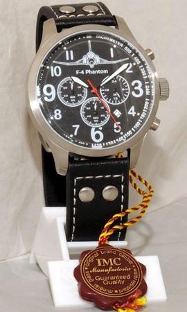 IMC® Fliegeruhr Phantom Chronograph Armbanduhr Kampfflugzeug Herren Männer Uhr – Bild 2
