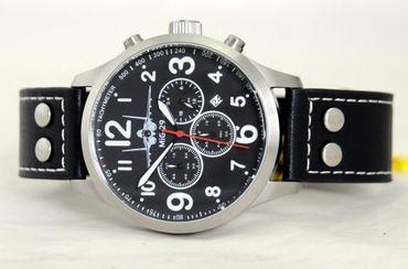 Fliegeruhr MIG-29 Fulcrum Chronograph Armbanduhr Kampfflugzeug günstig Uhr – Bild 2