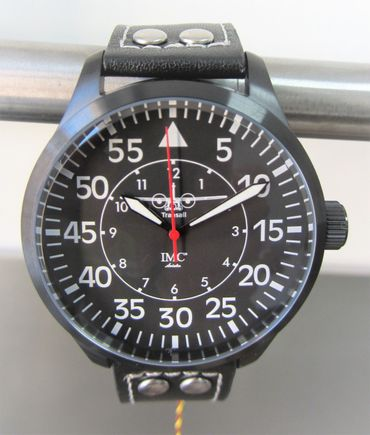 IMC® Fliegeruhr C-160 Transall schwarz Armbanduhr Flugzeug Herren Männer Uhr – Bild 1