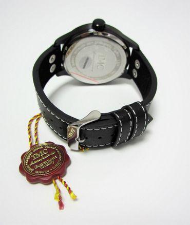 IMC® Fliegeruhr C-160 Transall schwarz Armbanduhr Flugzeug Herren Männer Uhr – Bild 4