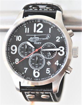IMC® Fliegeruhr Huey Chronograph Armbanduhr Hubschrauber Herren Männer Uhr Leder – Bild 1
