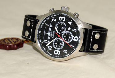 Fliegeruhr A400M Chronograph Armbanduhr Transportflugzeug Herren günstig Uhr OVP – Bild 3