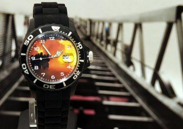 Feuerwehr IMC schwarz Armbanduhr Uhr Sonderedition Silikon Motiv Brand Flamme – Bild 5