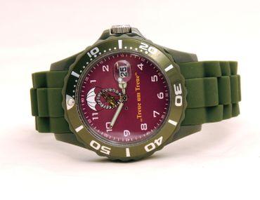 Fallschirmjäger IMC Silco oliv / bordeaux Armbanduhr Uhr neu OVP Sonderedition – Bild 3