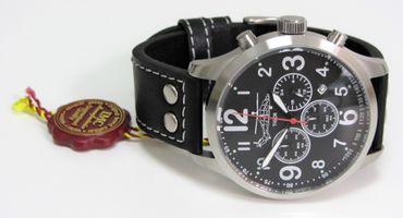 IMC® Fliegeruhr Tiger Chronograph Armbanduhr Hubschrauber Herren Uhr Edelstahl – Bild 4