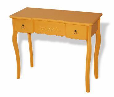 Kommode Schreibtisch Tisch Schminktisch Beistelltisch orange gelb günstig OVP – Bild 1