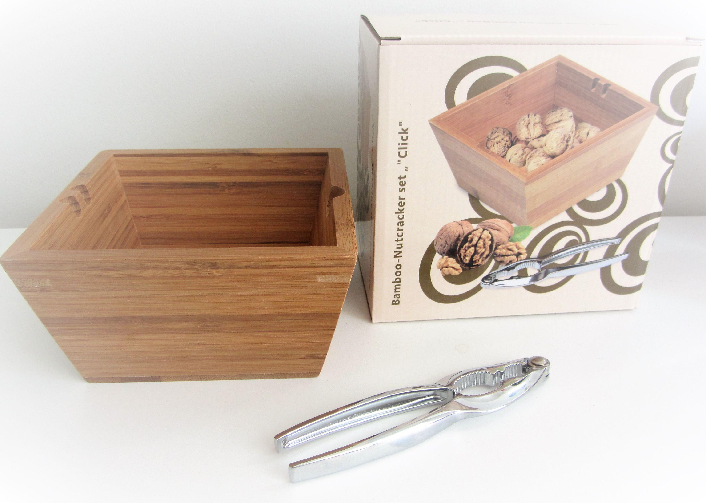 Nussknacker Set 2 Teilig Bambus Schale Mit Knacker Geschenk