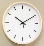 Wanduhr Holz Uhr XL groß Ziffernblatt weiß modern Büro Geschenk gut lesbar OVP 001