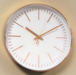 Wanduhr Uhr XL groß gold rosé modern Büro Geschenk gut lesbar günstig weiß OVP 001