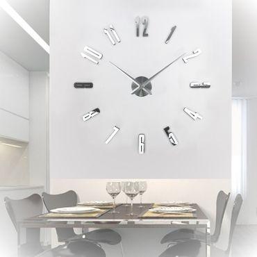 IMC Rahmenlose 3D Wanduhr Uhr Modern Wandtattoo Aufkleber Büro Deko günstig DIY – Bild 2