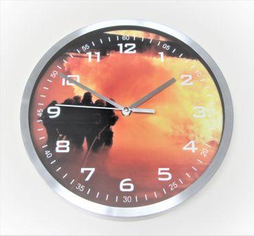 Wanduhr Uhr Motiv Feuerwehr groß modern Büro Geschenk Kamerad Kinder günstig OVP – Bild 1