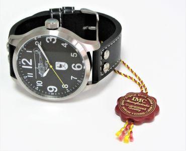 Fliegeruhr 60 Jahre LTG Huey silber Armbanduhr Hubschrauber Herren Uhr günstig – Bild 2