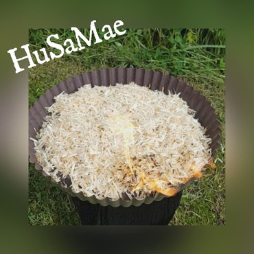 1.000 Gramm HuSaMae Ökologisches Holzwolle Feuergranulat (Raketenofen) – Bild 5