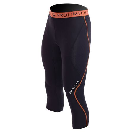 Prolimit - SUP Neo 3/4 Leg Pants Neoprenshorts black/orange (Herren) – Bild 1