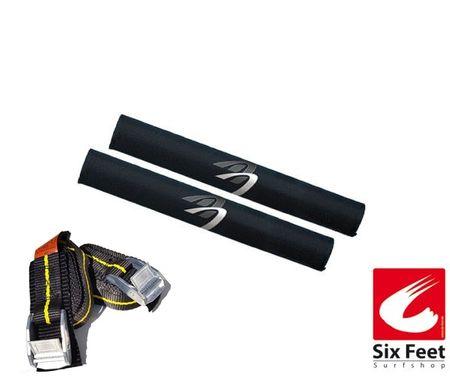 Surfboard-Transportpaket (1Paar Spanngurte & 1 Paar Dachträgerpolster)